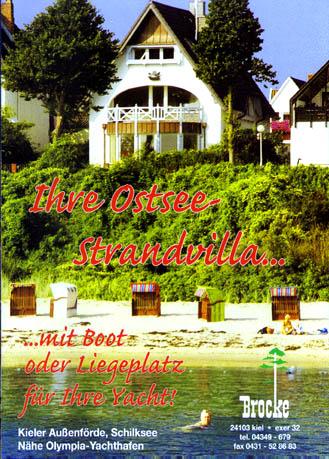 Ihre Ostsee-Strandvilla... mit Boot oder Liegeplatz für Ihre Yacht!